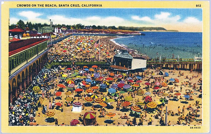Music Enjoyed Free Beach Concerts At The Boardwalk In 1940s Too Santa Cruz Was One Of Four Northern California Cities Holding Regular Sunday